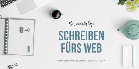 Schreiben fürs Web - Content & Social Media Kurzworkshop tickets