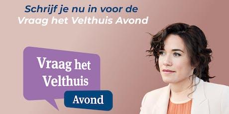 Vraag het Velthuis avond Enschede tickets