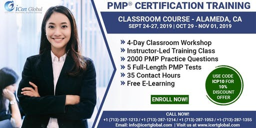 PMP® Certification Training Course in Alameda, CA, USA | 4-Day PMP® Boot Camp with PMI® Membership and PMP Exam Fees Included.