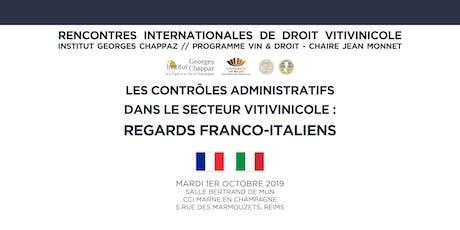 Rencontres internationales de droit vitivinicole billets