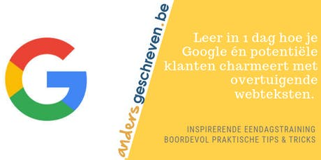 SEO copy opleiding op 22 november 2019 in Wijnegem tickets