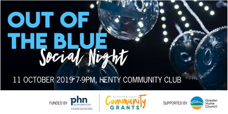 Out of the Blue Social Night tickets
