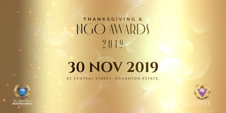 GBR & GFFJ THANKSGIVING & NGO AWARDS 2019 tickets
