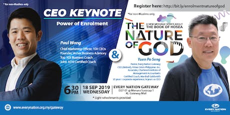 CEO Keynote: Power of Enrolment & The Nature of God tickets