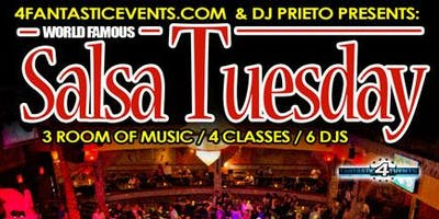 World Famous Salsa Tuesday @ Alhambra Palace