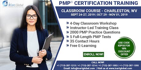 PMP® Certification Training Course in Charleston, WV, USA | 4-Day PMP® Boot Camp with PMI® Membership and PMP Exam Fees Included. tickets