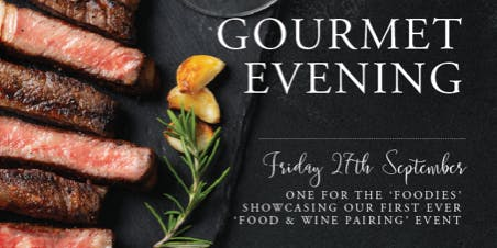 Gourmet Evening. Food and Wine Event