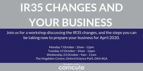 IR35 Changes and Your Business tickets