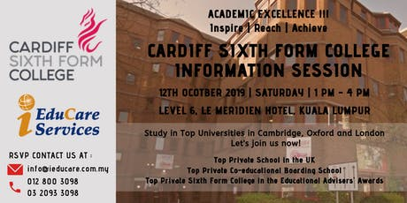 Cardiff Sixth Form College Information Session at Le Meridien Hotel tickets