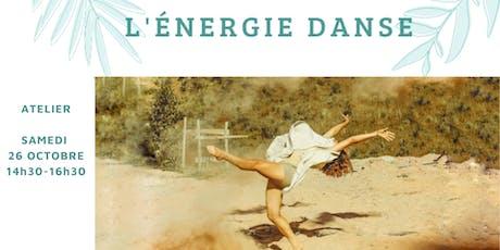 L'ENERGIE DANSE (2h) Sentir l'énergie en soi et danser avec librement. billets