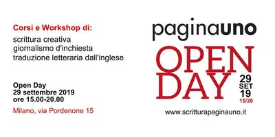 Open Day Paginauno | Corsi 2019 Giornalismo, scrittura creativa, traduzione