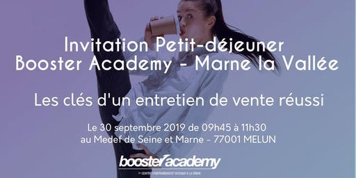 Petit Déjeuner Atelier Booster Academy