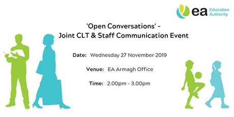 Open Conversations - Joint CLT & Staff Event - Armagh tickets