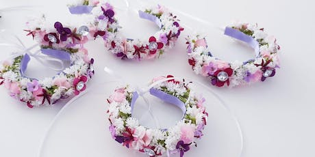 Floraler-Blütenkranz/Blumenarmband-DIY-Workshop Tickets
