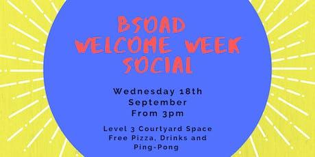 BSOAD Welcome Week Social tickets