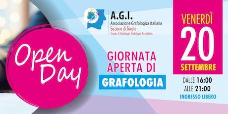 Giornata aperta di grafologia biglietti