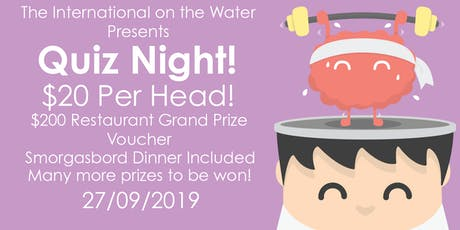 Quiz Night at the International on the Water tickets