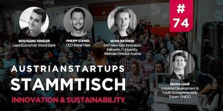 AustrianStartups Stammtisch #74: Innovation & Sustainability Tickets