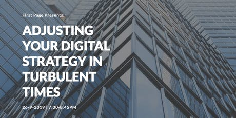 Adjusting Your Digital Strategy In Turbulent Times tickets