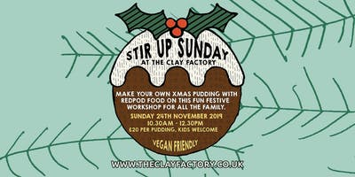 Stir Up Sunday @ The Clay Factory with RedPod Food