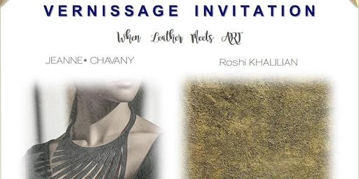 """""""When Leather Meets Art"""" – VERNISSAGE"""