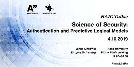 HAIC Talk: Science of Security - with Janne Lindqvist tickets