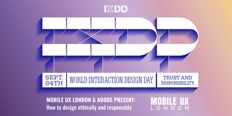 September Meetup - How to design ethically and responsibly, in collaboration with Adobe and IXDD tickets