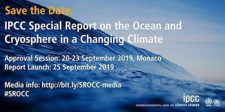 Live-Schaltung zur Präsentation des IPCC-Sonderberichtes Ozeane Tickets