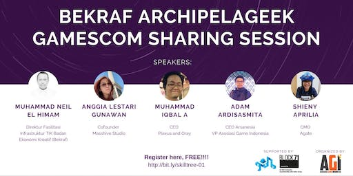 SKILL TREE - Bekraf Archipelageek Gamescom Sharing Session @ Bandung