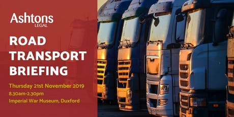 Ashtons Autumn Road Transport Briefing tickets