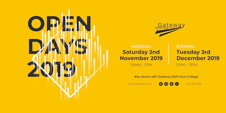 Gateway Sixth Form College - Open Evening 2019 tickets