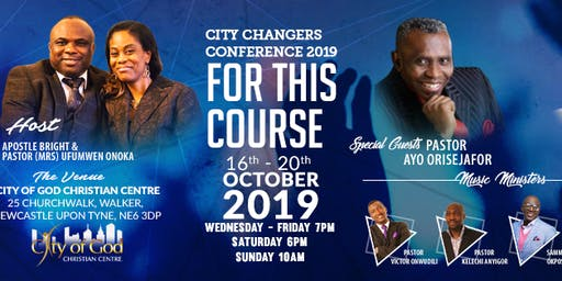 City Changers' Conference 2019 ( One of North East of  England's most  prestigious  Conference)