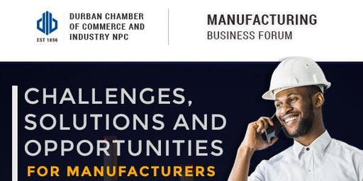 Manufacturing Business Forum - 23 September 2019