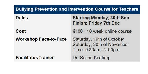Bullying Prevention and Intervention Course Online for Teachers