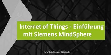 Internet of Things-Einführung mit Siemens Mindsphere Tickets
