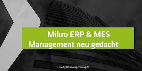 Mikro ERP & MES Management neu gedacht Tickets