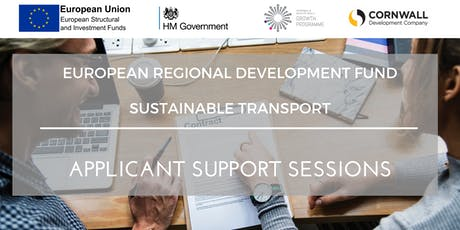 1:2:1 Applicant Support Sessions - ERDF Funding Call - Priority Axis 7- Sustainable Transport tickets