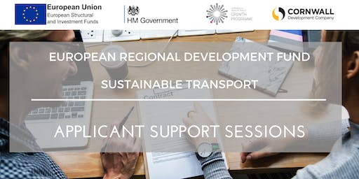 1:2:1 Applicant Support Sessions - ERDF Funding Call - Priority Axis 7- Sustainable Transport
