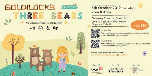 Goldilocks And The Three Bears (2pm show)