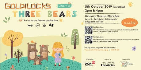 Goldilocks And The Three Bears (4pm show) tickets