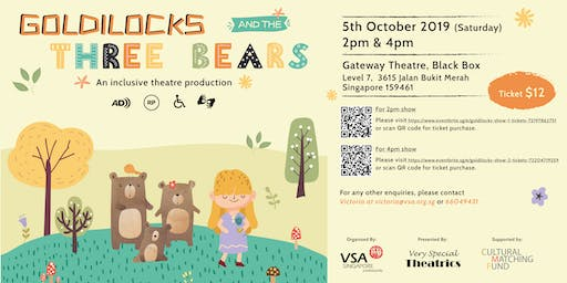 Goldilocks And The Three Bears (4pm show)