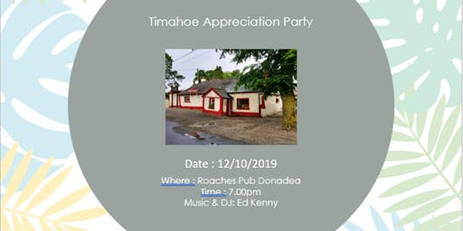 Timahoe Appreciation Night