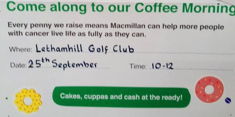 Macmillan Coffee Morning and Volunteer Celebration tickets