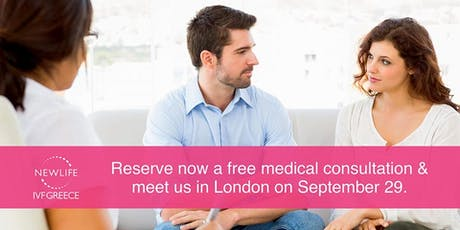Newlife IVF Greece clinic is offering FREE medical consultations in London tickets