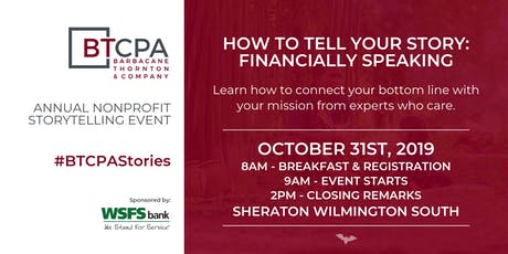 BTCPA Presents How to Tell Your Story: Financially Speaking tickets