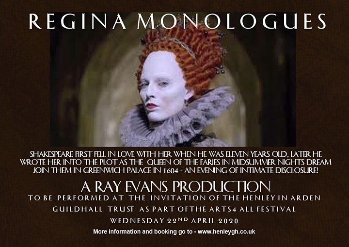 RAY EVANS - REGINA MONOLOGUES - UNRESERVED SEATING image