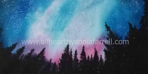 'Starry Skies' Art Experience with  Sonia Farrell: Creative Hearts Art