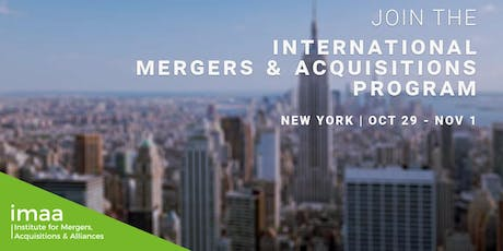 International Mergers & Acquisitions Expert (IM&A) - Certification Program Tickets