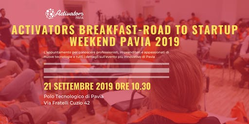 Activators Breakfast - Road to Startup Weekend 2019