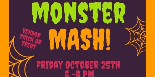 Monster Mash VENDOR TABLE RESERVATION